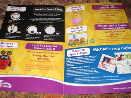Michael's Stores: Free March Craft Events