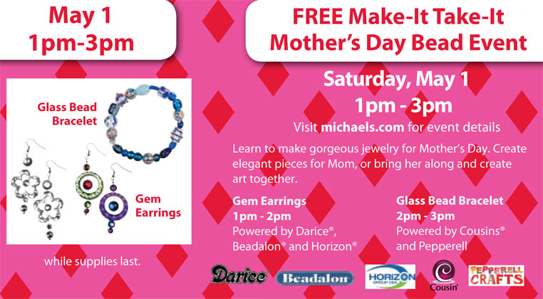 Sat 5 1 Michael S Free Mother S Day Bead Event Finding