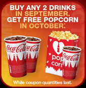 Cinemark Movie Theaters: Free Popcorn Coupon Promotion (purchase required)