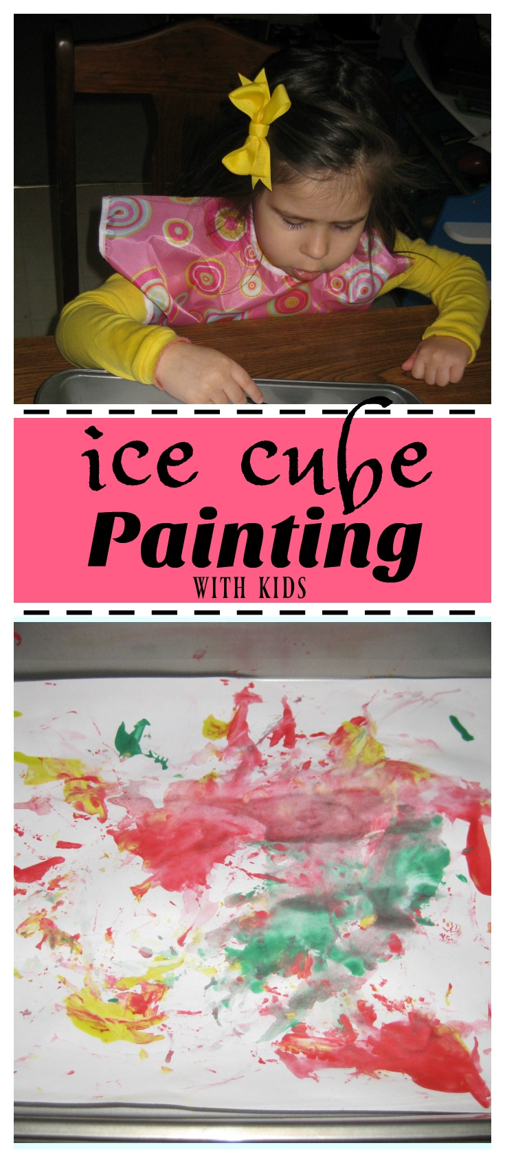 Ice Cube Painting with kids