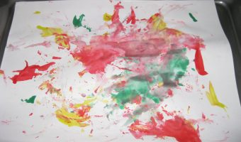 Preschooler Project: Ice Cube Painting