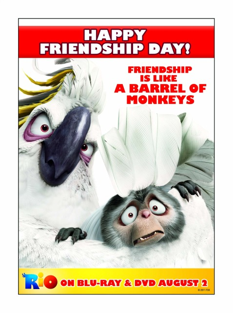 Celebrate National Friendship Day with our Friends from the Movie, Rio