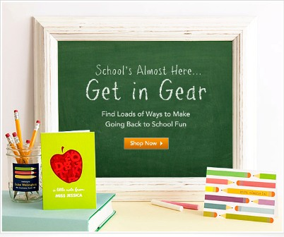 "We go ""Back to School"" too – even if Kindergarten is a year away!"