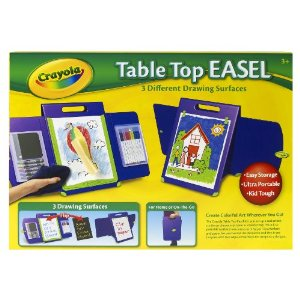 Crayola Table Top Easel W Dry Erase Crayons Markers And