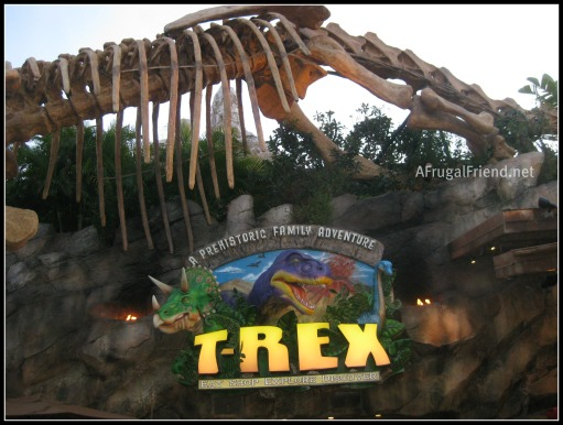 T rex a prehistoric family adventure at downtown disney for Restaurant rex