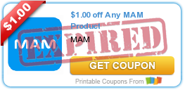 $1.00 off Any MAM Product