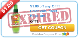 $1.00 off any OFF! Botanicals Product