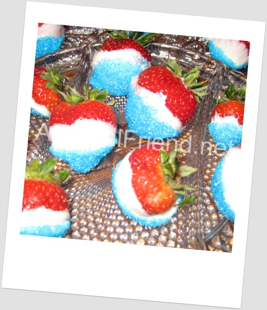 4th of July Treat: Red, White & Blue Strawberries (Tutorial)