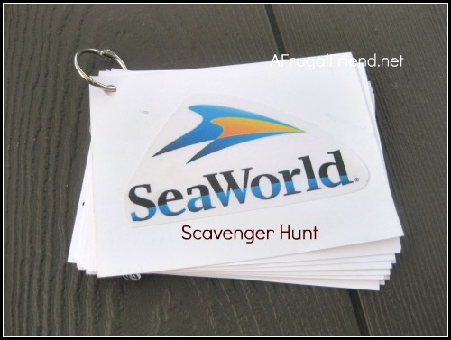 SeaWorld Scavenger Hunt for Kids