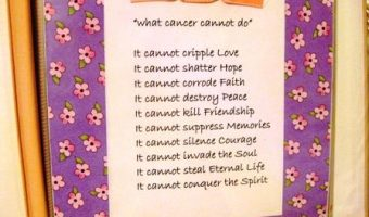 What Cancer Cannot Do…..