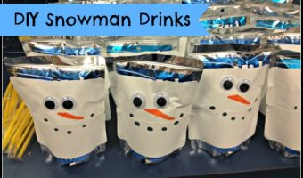 Kids Christmas Party Idea – Snowman Drinks
