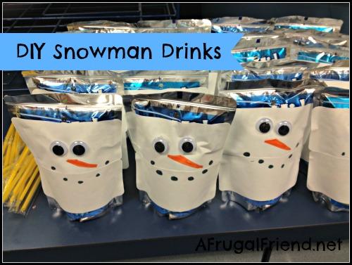 DIY Snowman Drinks