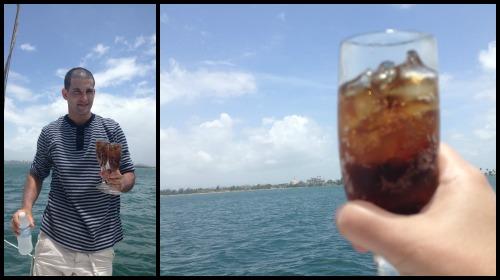 Puerto Rico Drinks at Sea