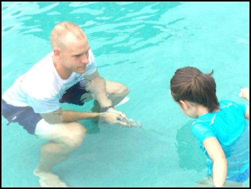 SeaWorld Aquatica Swim Lessons Blowing Bubbles