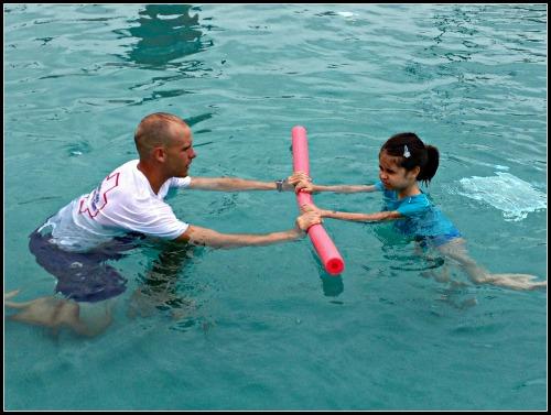 SeaWorld Aquatica Swim Lessons Noodle Fun