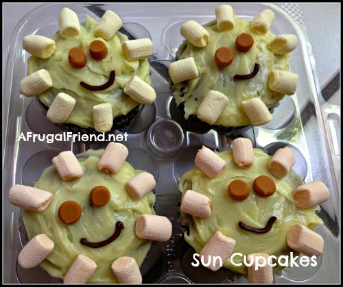 Sun Cupcakes