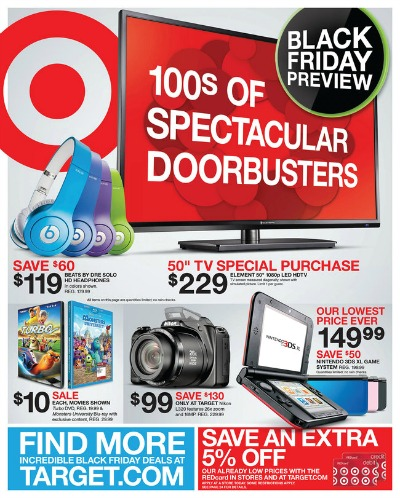 target black friday ad scan front page