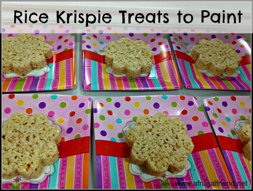 Painting Birthday Party Rice Krispie Treats