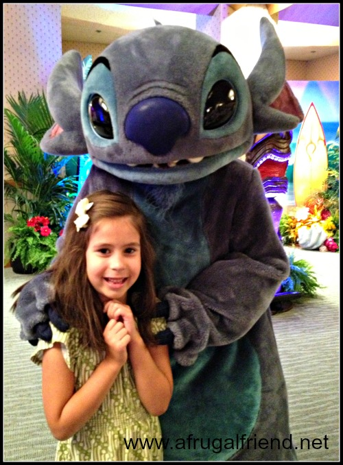 Stitch at Character Breakfast
