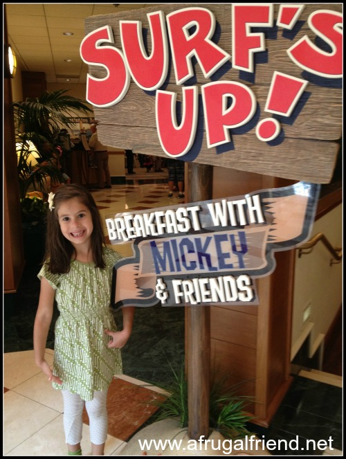 Surfs Up Breakfast With Mickey and Friends
