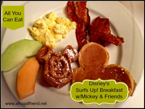 Surfs Up Breakfast with Mickey Food