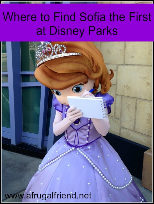 Where to Find Sofia the First at Disney Parks