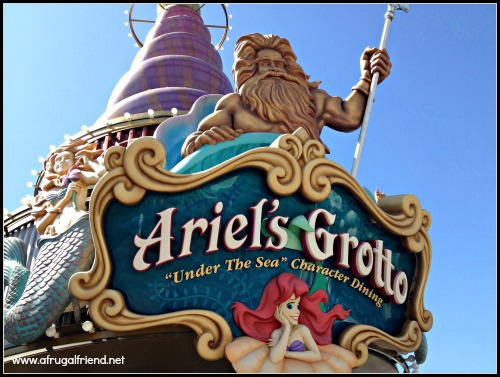Ariel's Grotto Character Dining