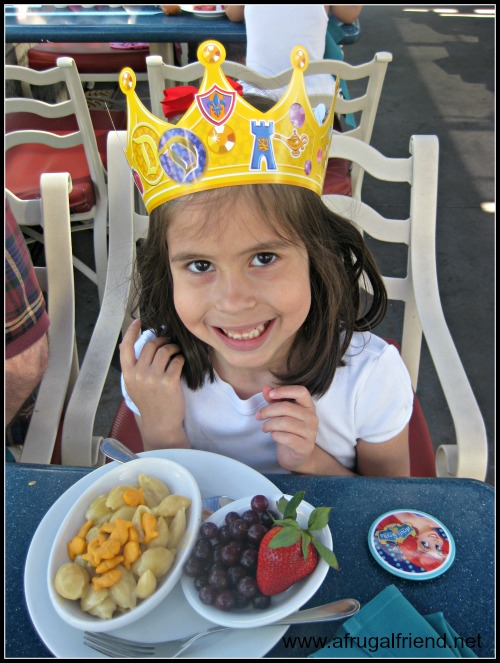 Ariel's Grotto Kids Meal and Crown