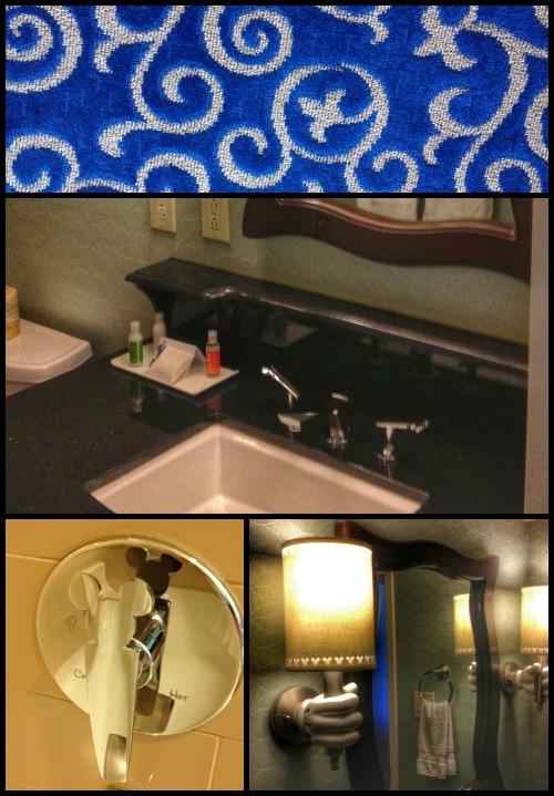 Disneyland Hotel Bathroom Details