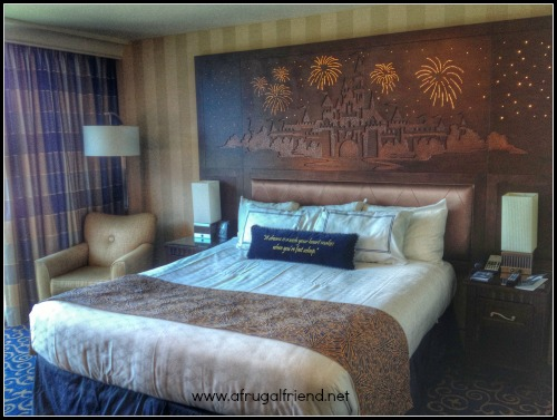 Disneyland Hotel Bed and Headboard
