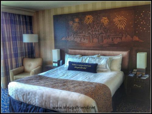 Disneyland Hotel Bed and Headboard