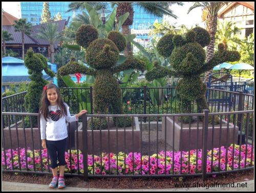 Disneyland Hotel Character Topiaries