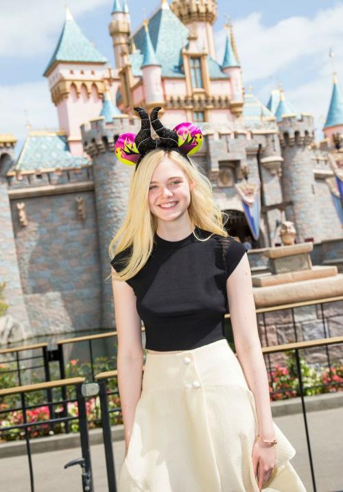Elle Fanning at Disneyland
