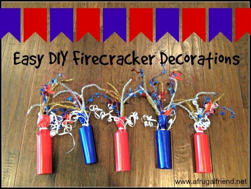 Easy DIY Firecracker Decorations