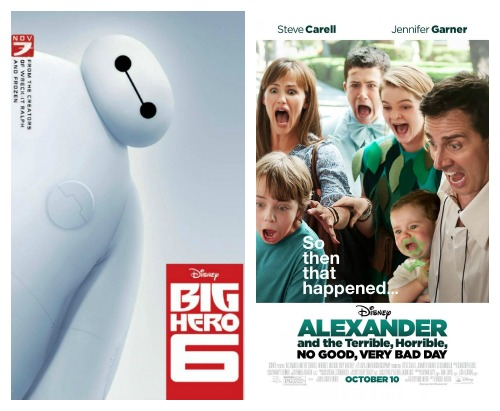 Big Hero 6 and Alexander and the terrible horrible no good very bad day