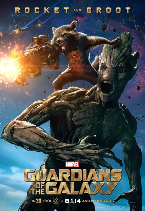 Groot and Rocket Character Poster #GuardiansoftheGalaxyEvent