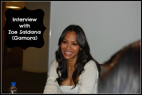 Interview with Zoe Saldana #GuardiansoftheGalaxyEvent