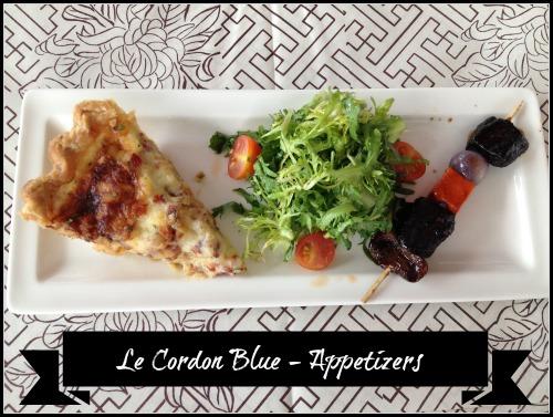 Le Cordon Bleu Appetizers #100FootJourneyEvent
