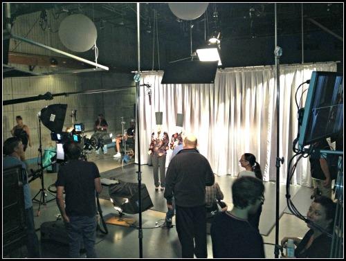 Mystery Girls Taping Commercial #mysterygirls