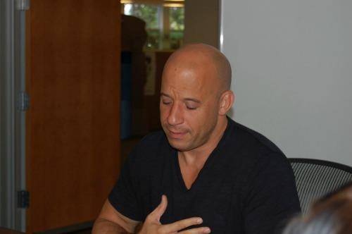 Vin Diesel Wears his Heart on his sleeve