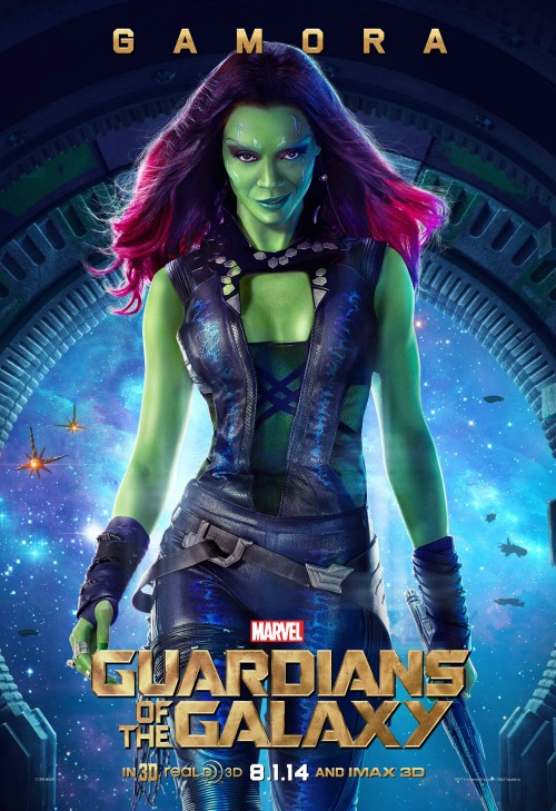 Zoe Saldana as Gamora #GuardiansoftheGalaxyEvent