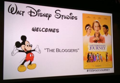 Disney Studios Screening The Hundred Foot Journey