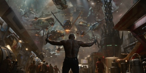 Drax taking on in guardians of the galaxy
