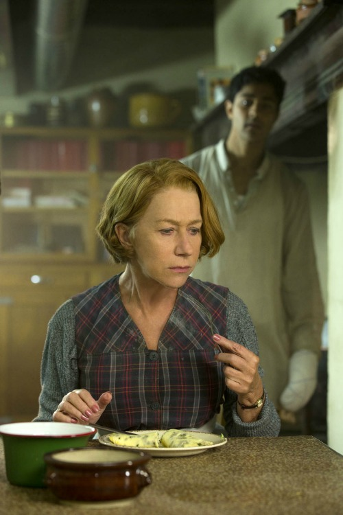 Manish Dayal and Helen Mirren The Hundred Foot Journey