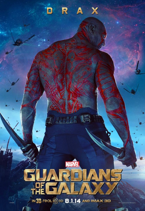 dave bautista as drax guardians of the galaxy