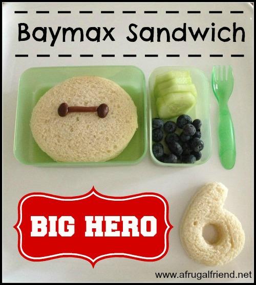 Baymax Sandwich Big Hero 6