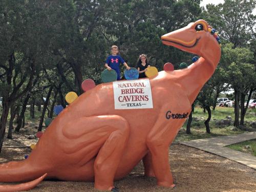Natural Bridge Caverns dinosaur  #naturaldifference