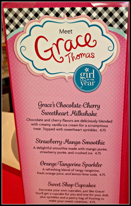 American Girl Grace Bistro Items