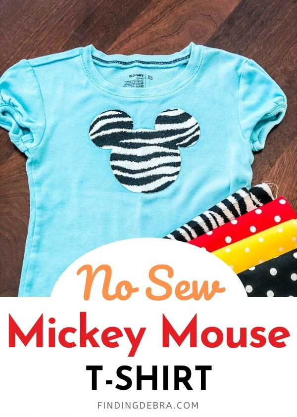 No Sew Mickey Mouse Applique Tshirt