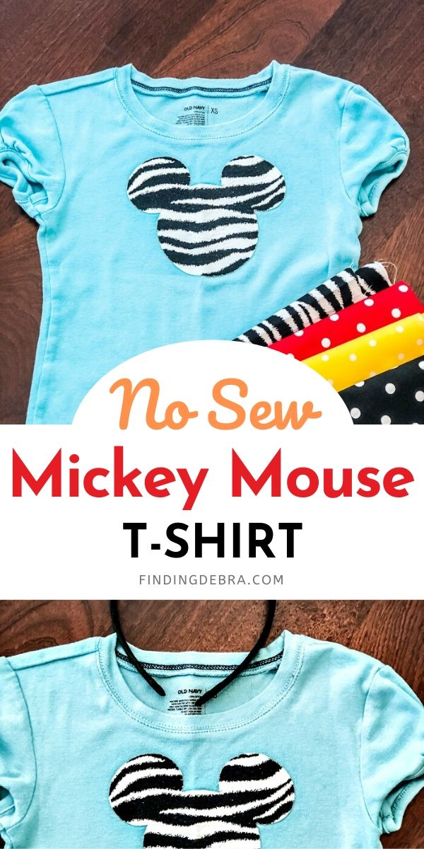 No Sew Mickey Mouse Tshirt